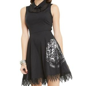 Hot Topic Black Hogwarts Crest Dress Barely Used